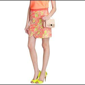 10 NWT Ted Baker Silloh Rainbow Waterfall Mini Skirt $175 – Ted 2 8 4 US 6 3